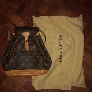 LOUIS VUITTON Brown Mini Montsouris Backpack